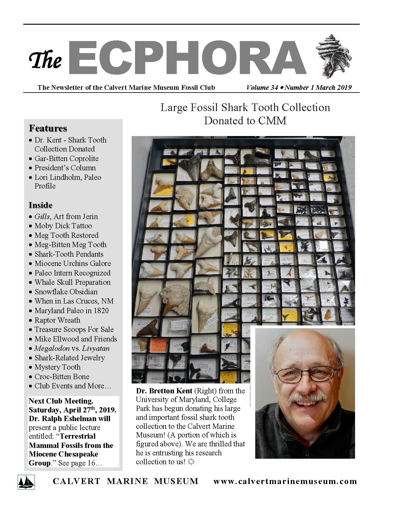 Ecphora, March 2019 Cover
